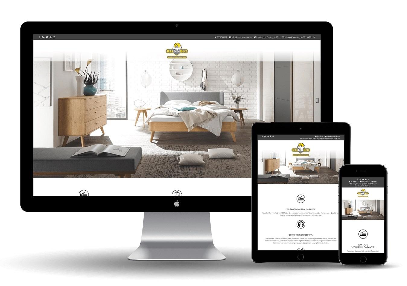 Online Marketing United - Das neue Bett